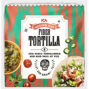Soft tortillas Fiber Medium 8-p 320g ICA