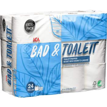 Toalettpapper 24-p Miljömärkt ICA