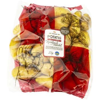 Potatis Norrlandsmandel 2kg Klass 1 ICA