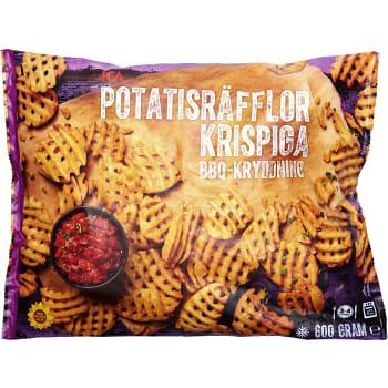 Krispiga potatisräfflor Fryst 600g ICA