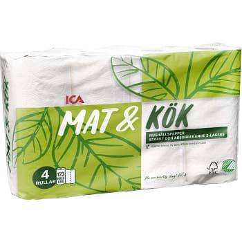 Hushållspapper Mat & kök 4-p Miljömärkt ICA