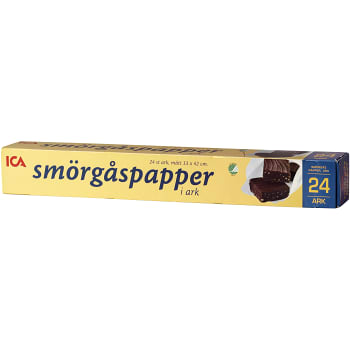 Smörgåspapper 24 ark Miljömärkt ICA