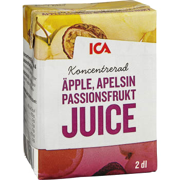 Äppel apelsin & passionsfruktjuice Koncentrat 2dl ICA