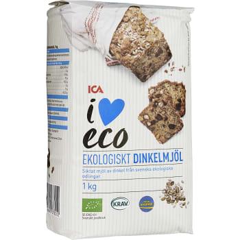 Dinkelmjöl Siktat 1kg KRAV ICA I love eco