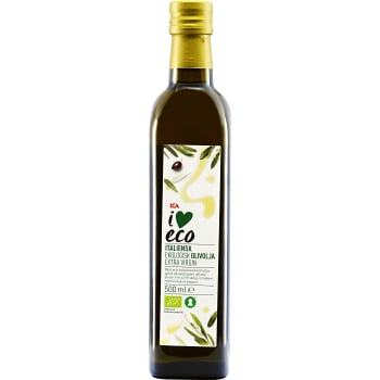 Extra virgin Italiensk Olivolja Ekologisk 500ml ICA I love eco
