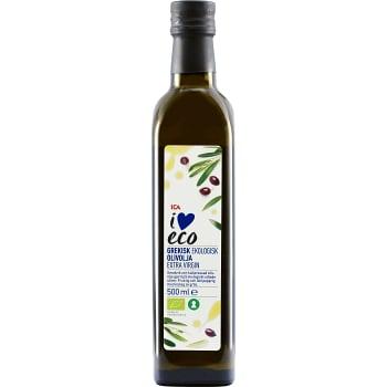 Extra virgin Grekisk Olivolja Ekologisk 500ml ICA I love eco