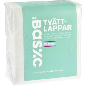 Tvättlappar 250-p ICA Basic