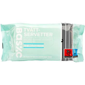 Tvättservetter Oparfymerade 72-p ICA Basic