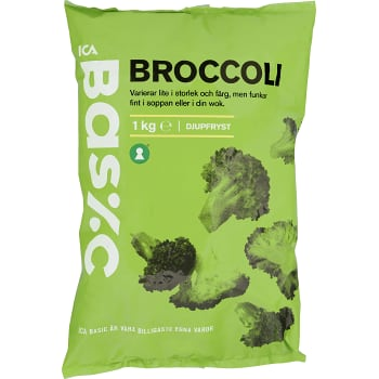 Broccoli Fryst 1kg ICA Basic