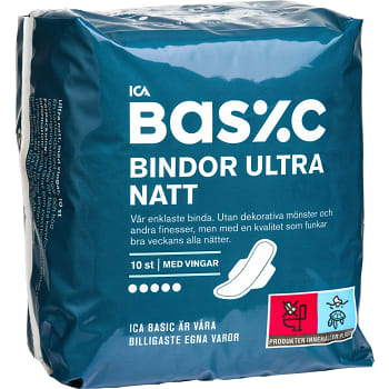 Ultra Natt Binda 10-p ICA Basic
