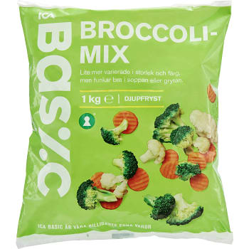 Broccolimix Fryst 1kg ICA Basic