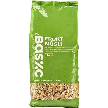 Müsli Frukt 1kg ICA Basic