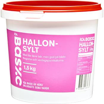 Hallonsylt 1,5kg ICA Basic