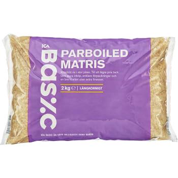 Parboiled Ris 2kg ICA Basic