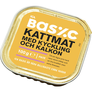 Kattmat Kyckling & kalkon 100g ICA Basic