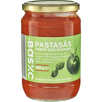 Pastasås Tomat & basilika 690g ICA Basic