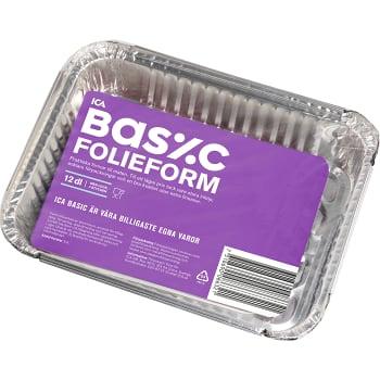 Med lock Aluminiumform 12dl 3-p ICA Basic