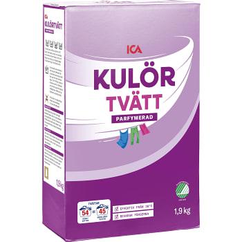 Tvättmedel Kulörtvätt 1,9kg Miljömärkt ICA