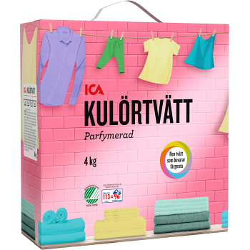 Tvättmedel Kulörtvätt 4kg Miljömärkt ICA