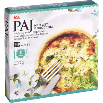 Ost & broccolipaj Fryst 220g ICA