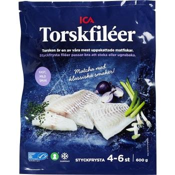 Torskfiléer Fryst 600g ICA