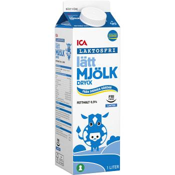 Lättmjölkdryck Laktosfri 0,5% 1l ICA