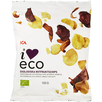 Rotfruktschips 100g KRAV ICA I love eco