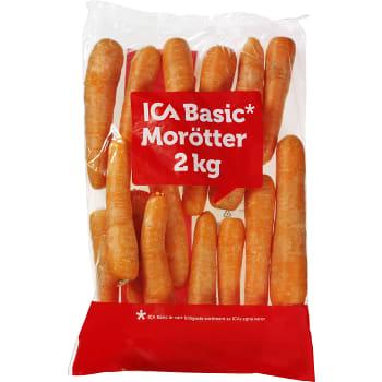 Morötter 2kg Klass 1 ICA Basic