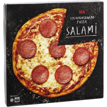 Stenugnsbakad pizza Salami Fryst 350g ICA