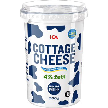 Cottage cheese Naturell 4% 500g ICA