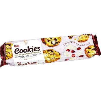 Cookies Vit choklad & tranbär 150g ICA
