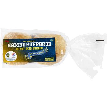 Hamburgerbröd Surdeg 4-p 300g ICA