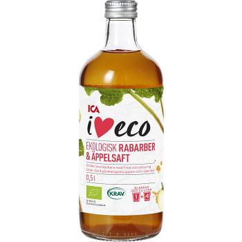 Rabarber & äppelsaft 50cl KRAV ICA I love eco