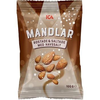 Mandlar Rostade & saltade 100g ICA