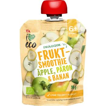 Fruktmellis Äpple päron & banan Från 6mån Ekologisk 90g ICA I love eco
