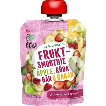 Fruktmellis Äpple jordgubb banan & hallon Från 6mån Ekologisk 90g ICA I love eco