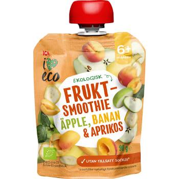 Fruktmellis Äpple banan & aprikos Från 6mån Ekologisk 90g ICA I love eco