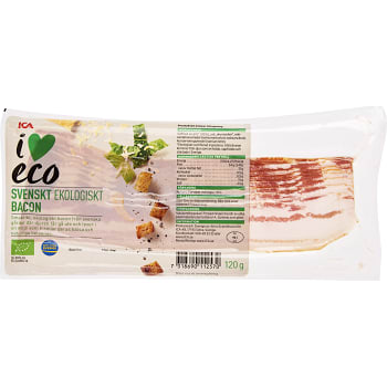 Bacon Ekologisk 120g ICA I love eco