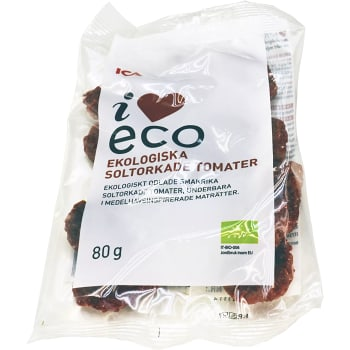 Soltorkade tomater Ekologiska 80g ICA I love eco
