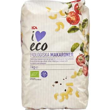 Makaroner Ekologisk 1kg ICA I love eco