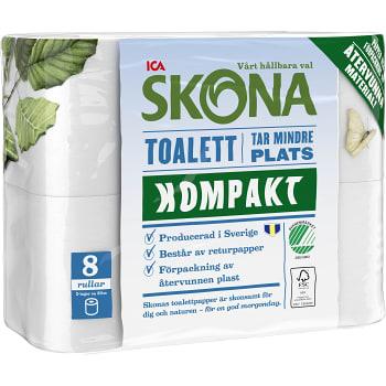 Toalettpapper Kompakt 8-p ICA Skona