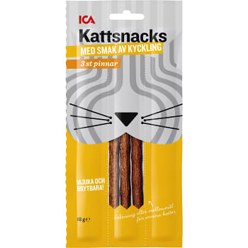 Sticks med smak av kyckling Kattsnacks 18g ICA