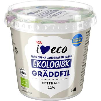 Gräddfil 12% 300ml KRAV ICA I love eco