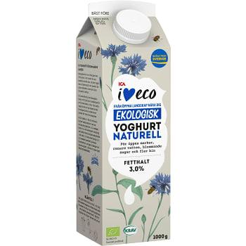 Yoghurt Naturell 3% 1l KRAV ICA I love eco