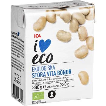 Stora vita bönor Ekologisk 380g ICA I love eco