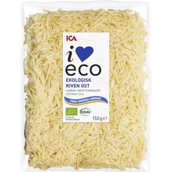Ost riven 150g KRAV ICA I love eco