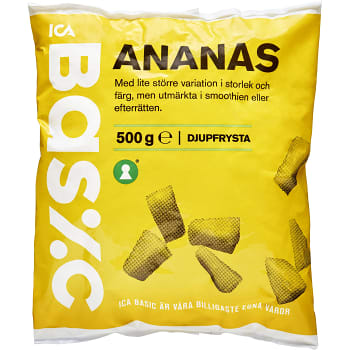 Ananas Fryst 500g ICA Basic