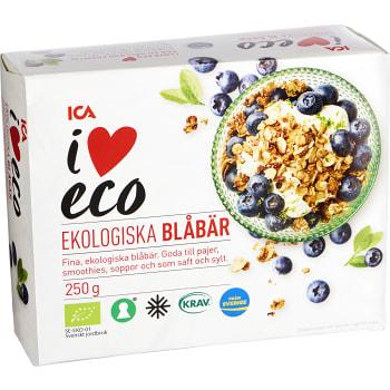 Blåbär Fryst 250g KRAV ICA I love eco