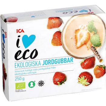 Jordgubbar Fryst Ekologisk 250g ICA I love eco