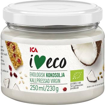 Kokosolja Ekologisk 250ml ICA i love eco